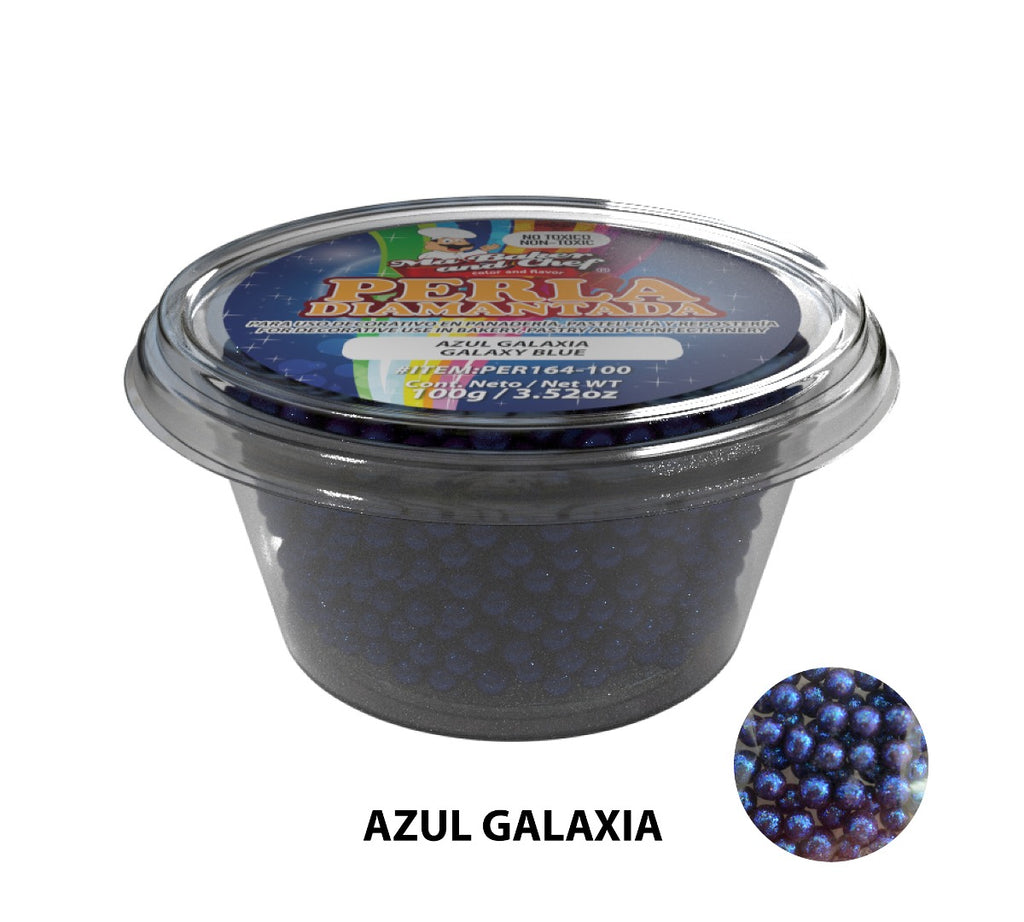 "Glitter Pearls ""Perlas Diamantadas"" 100 gm - Galaxy Blue"