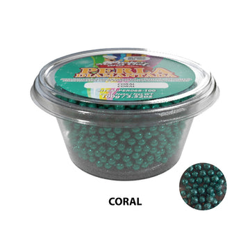 "Glitter Pearls ""Perlas Diamantadas"" 100 gm - Sea Green"