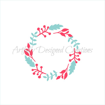Floral Wreath Double Stencil