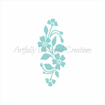 Flower Plaque Stencil