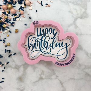 Happy Birthday Hand Lettered Stencil Cutter Combo By Killer Zebras