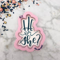 He or She? Hand Lettered Stencil Cutter Combo By Killer Zebras