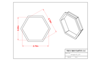 Cookie Cutter Blyss Hexagon by TMP