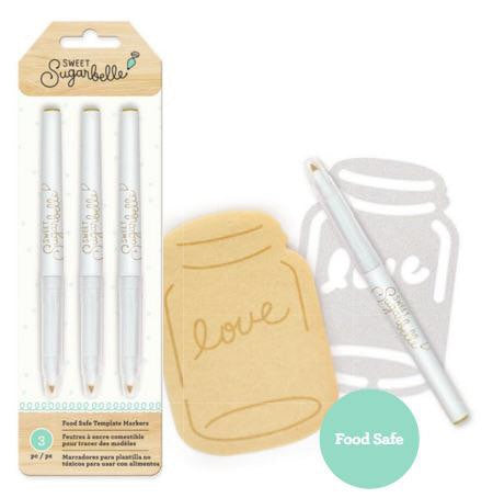 Sweet Sugarbelle Tan Edible Food Pens - 3 Pack