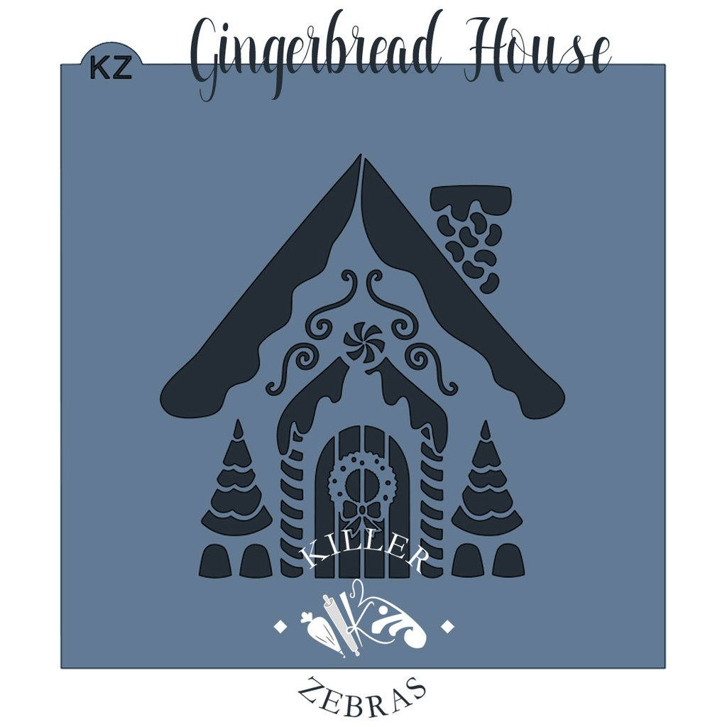Gingerbread Cottage House Stencil by Killer Zebras