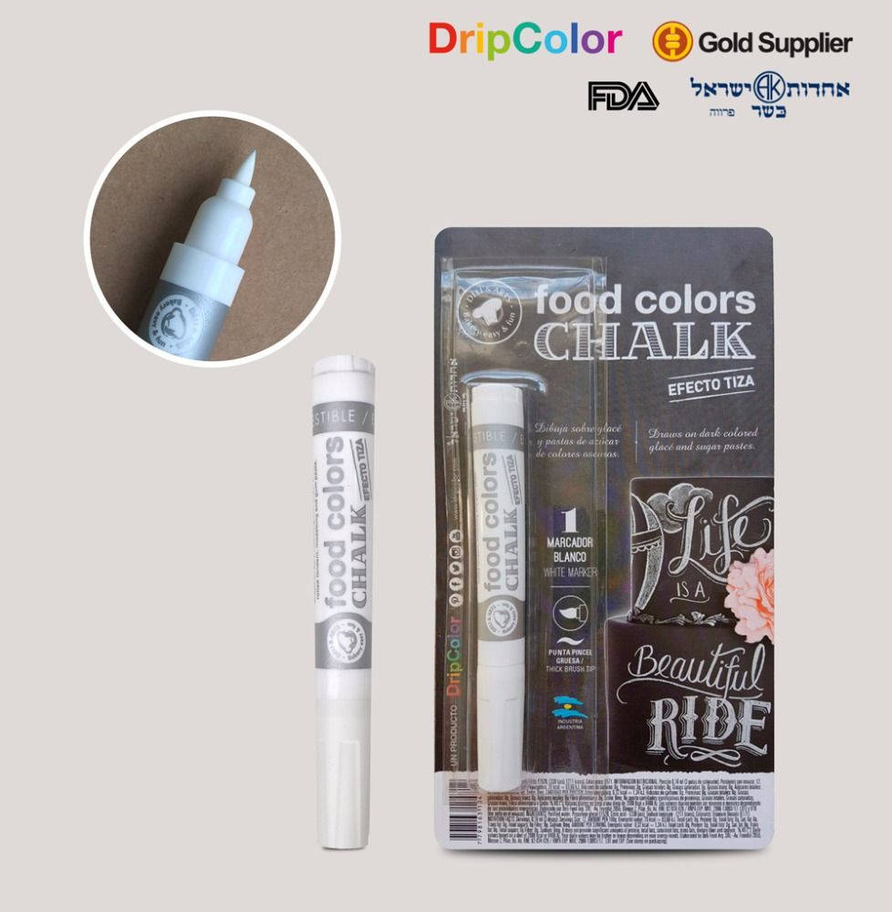 White Edible Chalk Pen by Dripcolor
