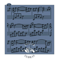Sheet Music Stencil by Killer Zebras