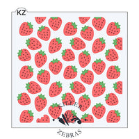Strawberry 3 Piece Stencil by Killer Zebras