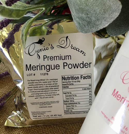 Genie's Dream Premium Meringue Powder 1 lb refill pouch