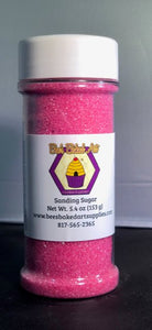 Bee's Sanding Sugar 5.4 oz - Fuschia