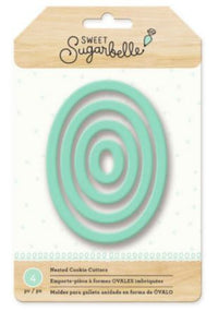 Sweet Sugarbelle Oval Cookie Cutter Set 4 Pc