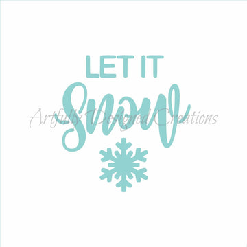 Blyss Let It Snow Stencil