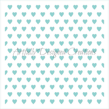 Mini Hearts Stencil Background