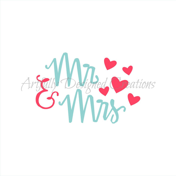 Mr and Mrs Title Stencil
