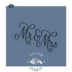 Mr. & Mrs. Hand Lettered Stencil Cutter Combo By Killer Zebras