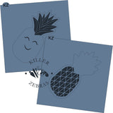Pineapple Stencil Cutter Combo By Killer Zebras