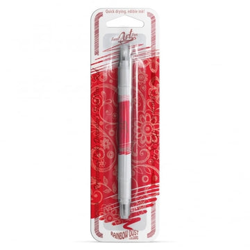 UK Rainbow Dust Double Sided Edible Pen - Red