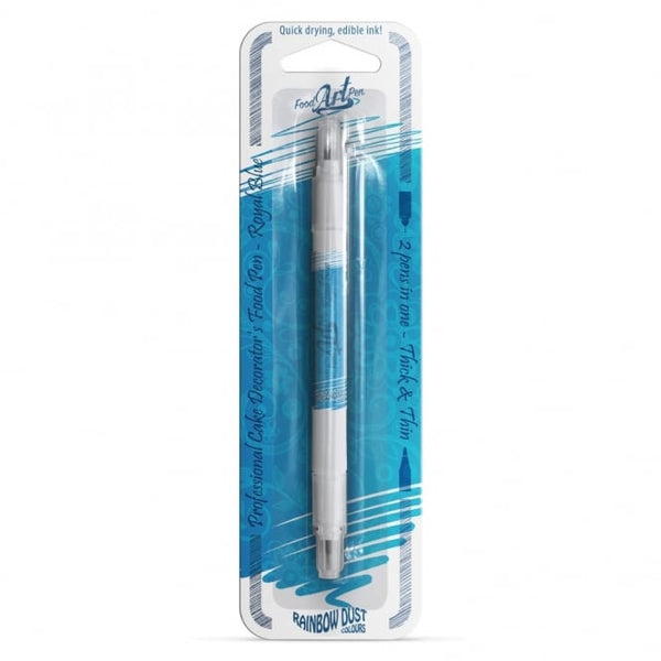 UK Rainbow Dust Double Sided Edible Pen - Royal Blue