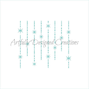 Retro Christmas Garland Stencil