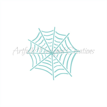 Whimsical Spider Web Stencil