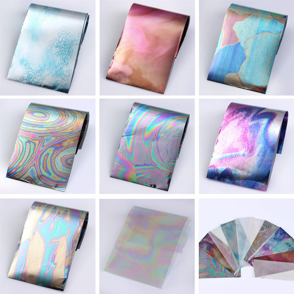 12 Colors/set Starry Sky Nail Foils Nail Stickers Multicolor 4*16 cm DIY Manicure Nail Art Transfer Sticker Nail Decoration