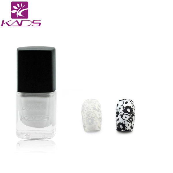 KADS 2016 Long Lasting White Nail Art Stamping Print Lacquer Nail Polish Manicure DIY Nail Art Decoration Tools Hot Sale