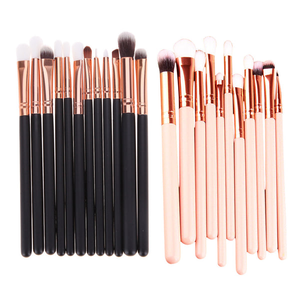 12Pcs Rose Gold multifunctional Makeup Brush Set Eyeshadow Eye Brushes Tool also used as cheeks jaw line chin brushes 14.5-16cm