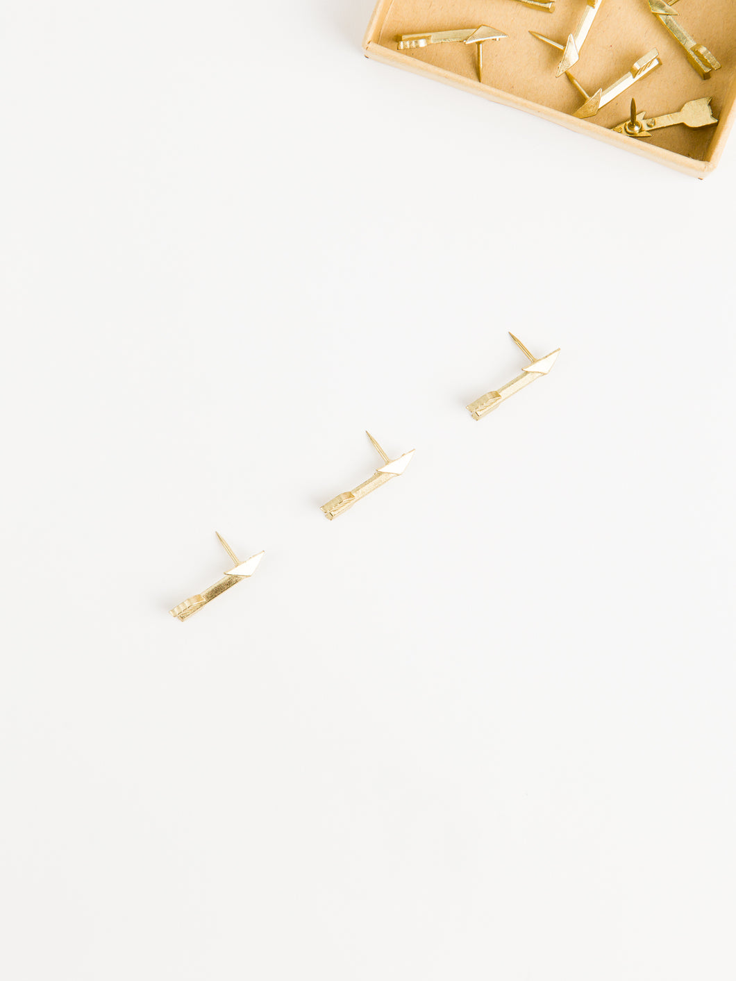 Gold Arrow Push Pins, Set of 9