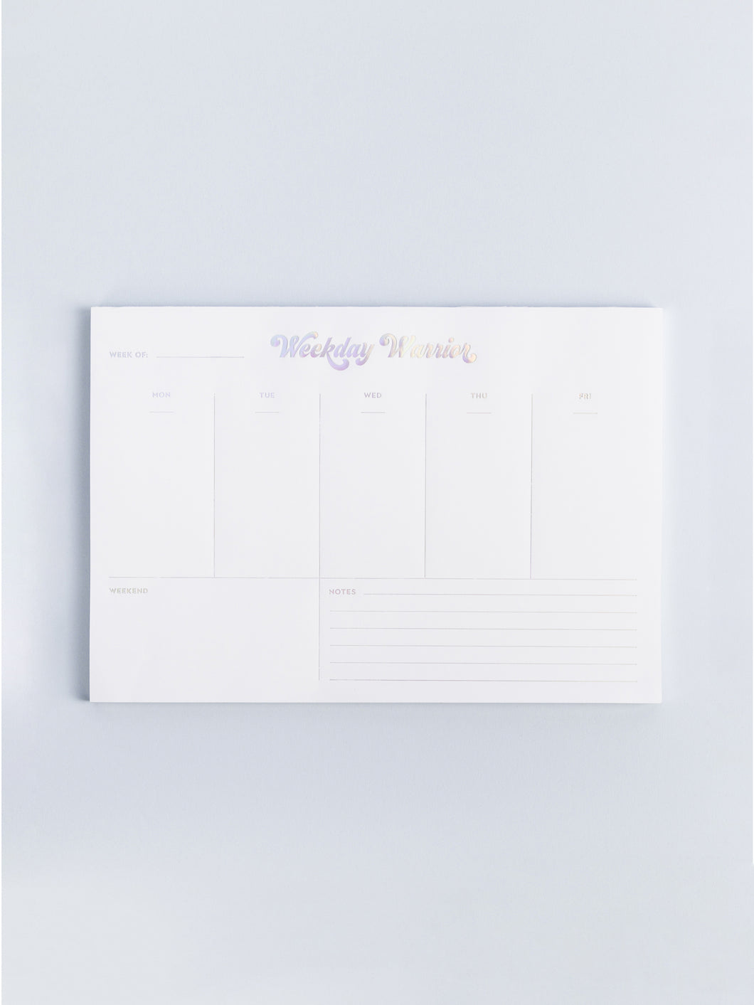 Weekday Warrior Weekly Pad