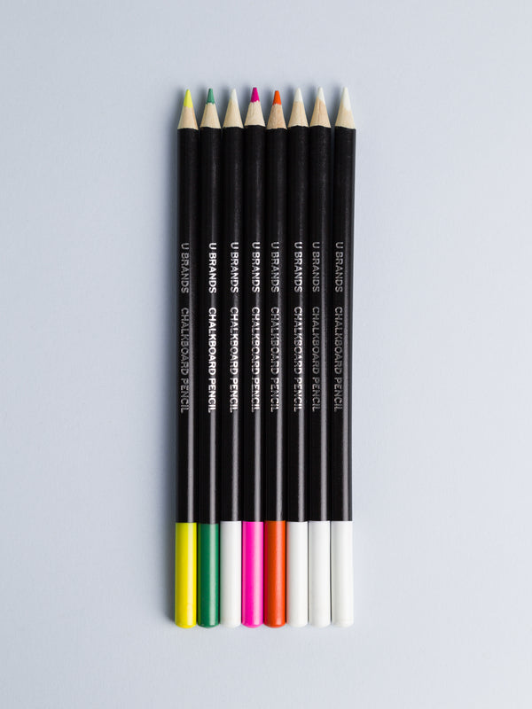 Chalkboard Pencils, Set of 8