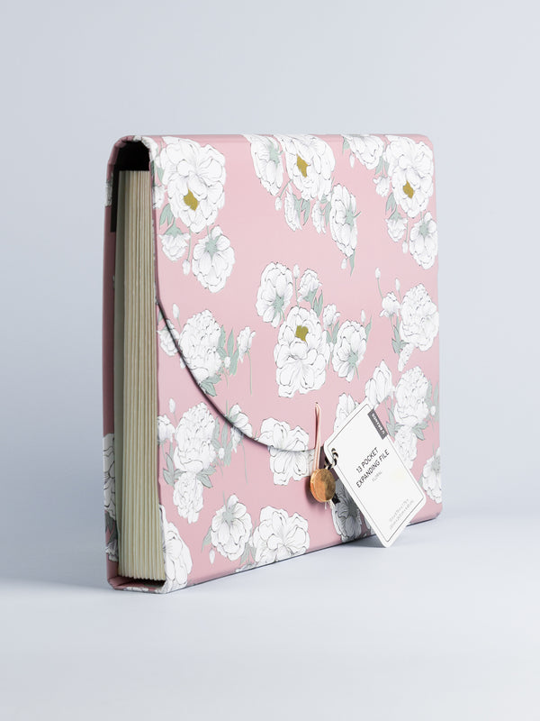 Bloomin' Blush 13 Pocket Expandable File