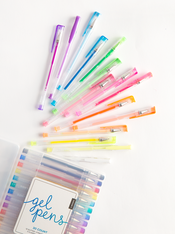 Gel Pens, Set of 30