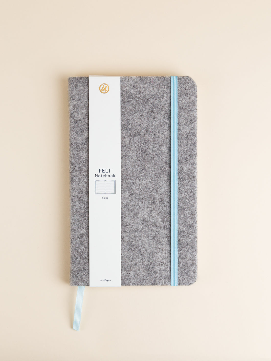 Felt Notebook, Light Gray