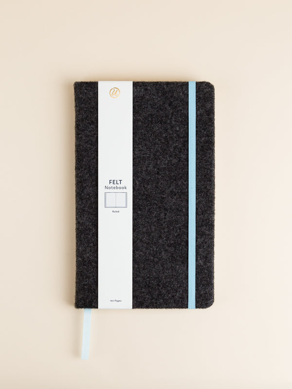 Felt Notebook, Dark Gray