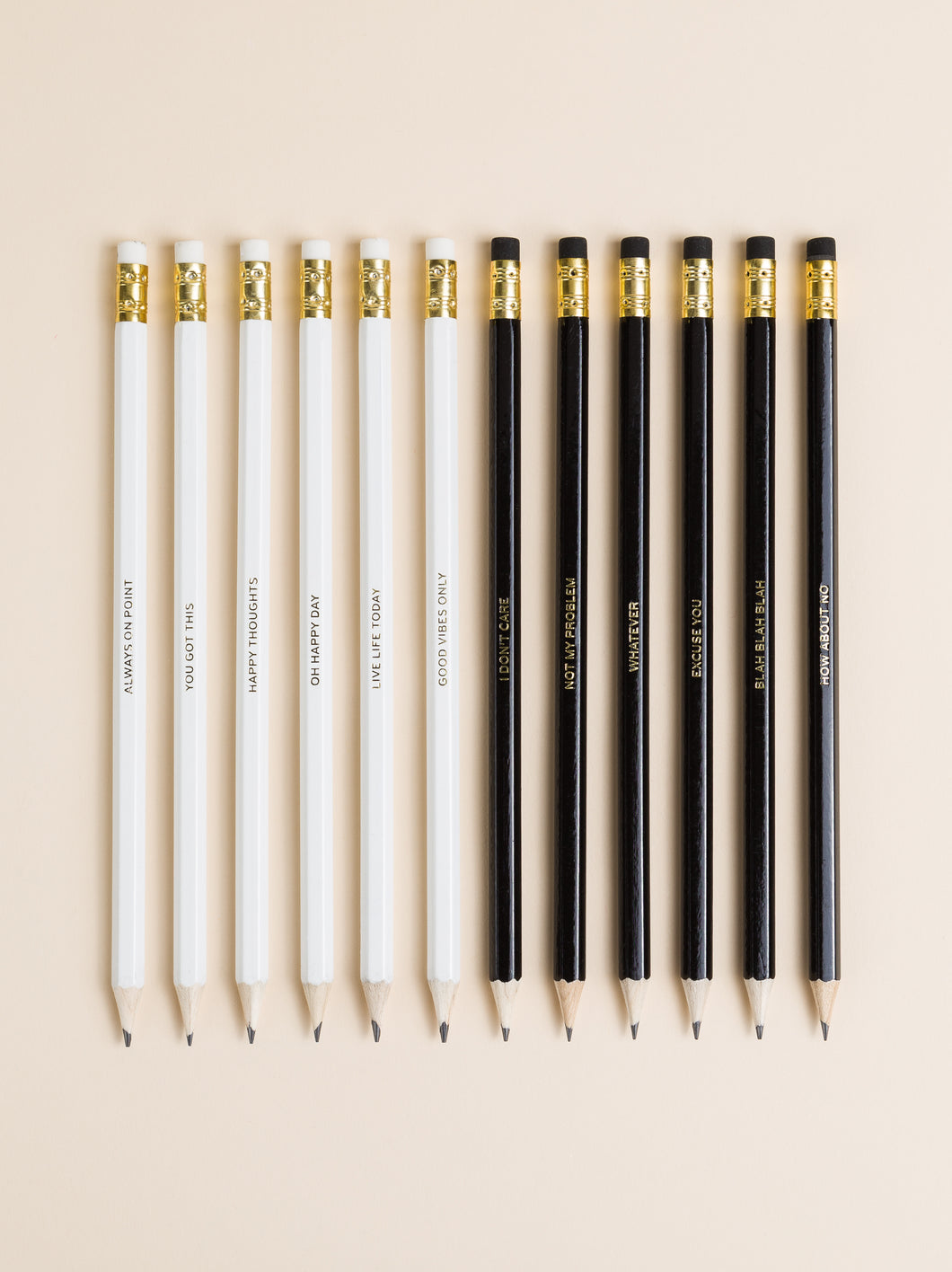 Positive & Negative Pencils, Set of 12