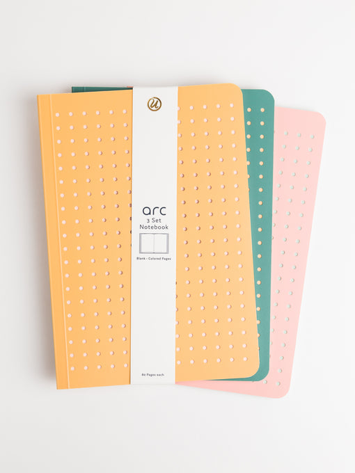 Arc Die Cut Notebooks, Set of 3