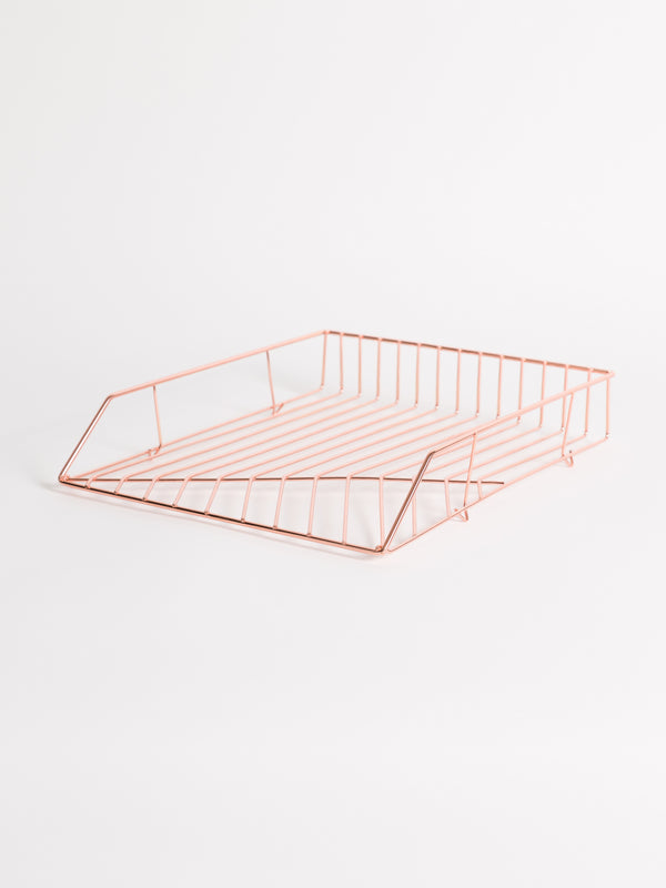 Vena Stackable Paper Tray, Rose Gold