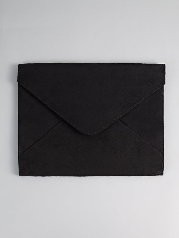 Black Suede Document Holder