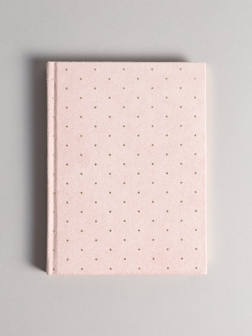 Blush & Gold Suede Plournal Hardcover, 6