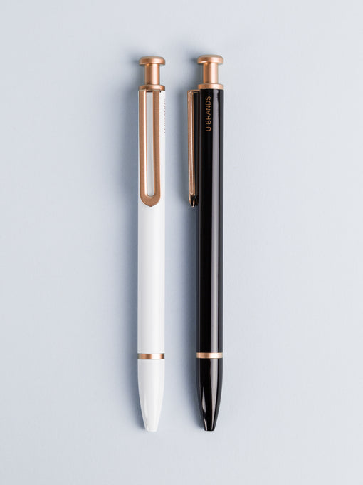 Classic Rose Gold Monterey Ballpoint Pens, Set of 2