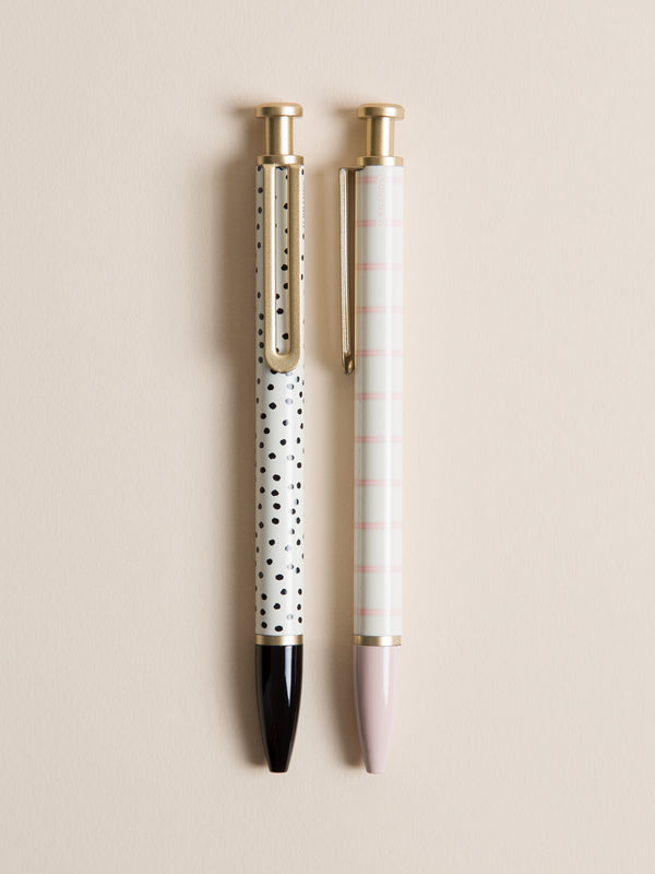 Dots & Stripes Monterey Ballpoint Pen, Set of 2
