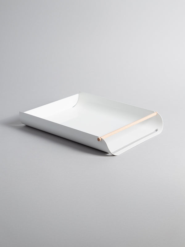 Arc Paper Tray, White