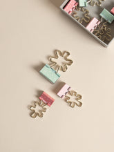Flower Binder Clip Set, Set of 8