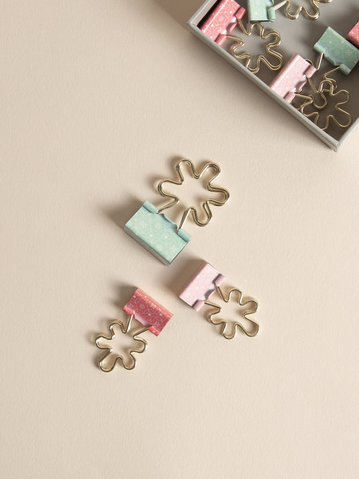 Flower Binder Clips, Set of 8