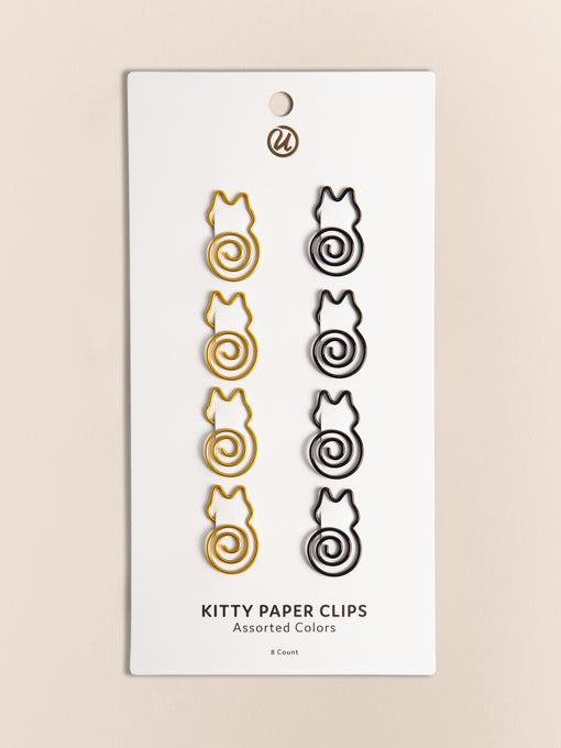 Kitty Cat Paper Clips, Set of 8