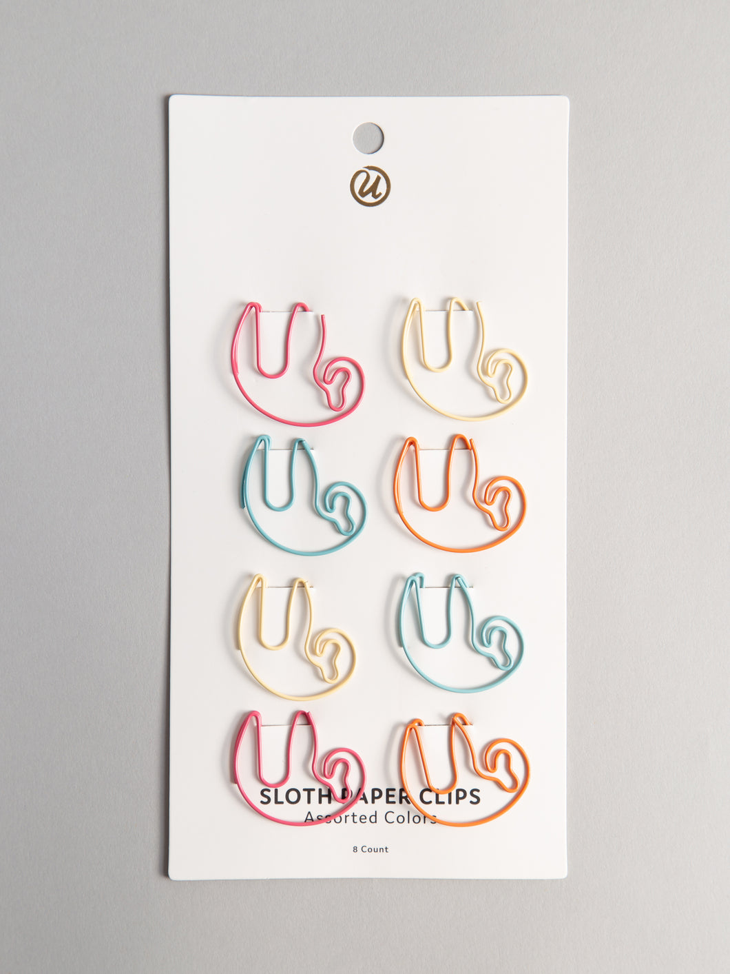 Sloth Paper Clips, Set of 8