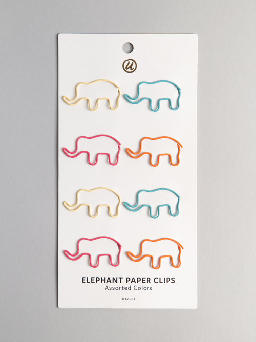 Elephant Paper Clips, Set of 8