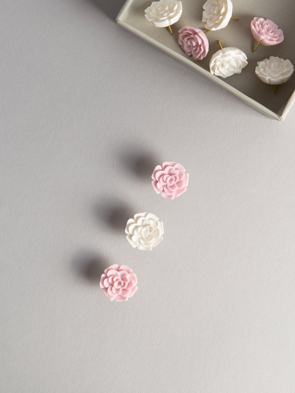 Flower Push Pins, Set of 9