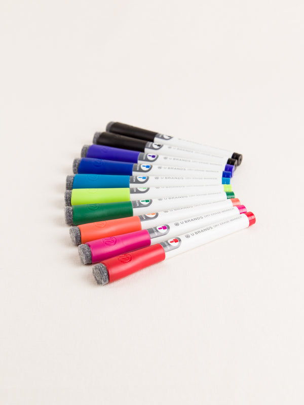 Dry Erase Markers, Set of 10