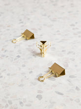 Gold Binder Clips, Set of 6